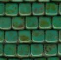Picture of CMT-63130/86805  Opaque Persian Turquoise Picasso  (25 pcs.)