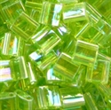 Picture of Miyuki Tila Beads | TL-0258 (A)  Transparent Lime Green AB (5 g.)