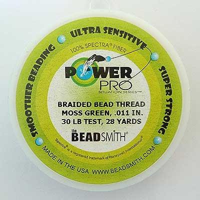 Picture of Beading Thread | Power Pro - 04-Moss Green - 30 lb. Test (28 yds.)