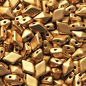 Picture of Czech Diamonduo 2-Hole Beads | DD-00030/01710  Silky Lt. Aztec Gold  (5 g.)