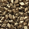 Picture of Czech DiamonDuo 2-Hole Beads | DD-02010/25005  Pearlescent Cocoa  (5 g.)