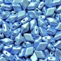 Picture of Czech DiamonDuo 2-Hole Beads | DD-02010/25014  Pearlescent Sky Blue  (5 g.)