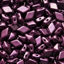 Picture of Czech DiamonDuo 2-Hole Beads | DD-02010/25032  Pearlescent Purple  (5 g.)