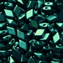 Picture of Czech DiamonDuo 2-Hole Beads | DD-02010/25033  Pearlescent Dk. Teal  (5 g.)