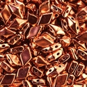 Picture of Czech Diamonduo 2-Hole Beads | DD-00030/39000  Copper Plate  (5 g.)
