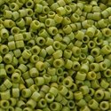 Picture of Miyuki Delica Seed Beads | 11/0 - DB-2309 (K) Frosted Opaque Glazed Pea Green AB (5 g.)