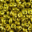 Picture of Czech SuperDuo Beads | SD-23980/24208  Metalust Yellow Gold