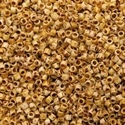 Picture of Miyuki Delica Seed Beads | 11/0 - DB-2262 (H) Opaque Dk. Ivory Picasso (5 g.)