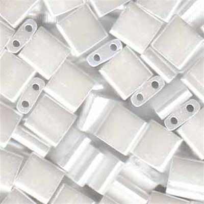 Picture of Miyuki Tila Beads | TL-0420 (D) Opaque White Luster (5 g.)
