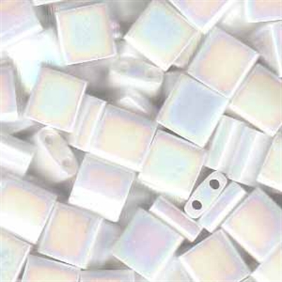 Picture of Miyuki Tila Beads | TL-0471 (D) Opaque White AB (5 g.)