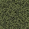 Picture of Miyuki Delica Seed Beads | 11/0 - DB-1585 (B) Matte Opaque Avocado Green (5 g.)