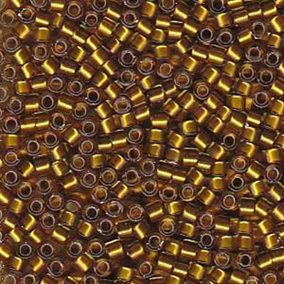 Picture of Miyuki Delica Seed Beads | 11/0 - DB-1681 (G2) Silver Glazed Mustard Gold (5 g.)