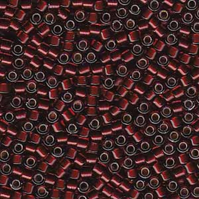 Picture of Miyuki Delica Seed Beads | 11/0 - DB-1685 (G) Silver Glazed Dk. Cranberry (5 g.)