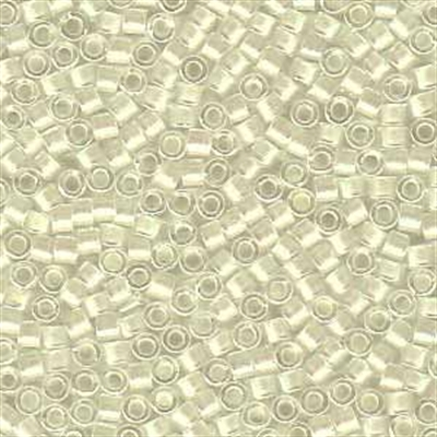 Picture of Miyuki Delica Seed Beads | 11/0 - DB-1701 (C) Ivory lined w/Pearl AB (5 g.)