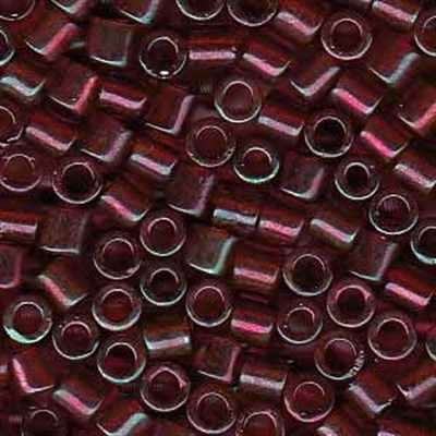 Picture of Miyuki Delica Seed Beads | 8/0 - DBL-0105 (F) Transparent Ruby w/Garnet Luster (5 g.)
