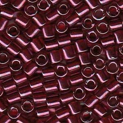 Picture of Miyuki Delica Seed Beads | 8/0 - DBL-0116 (F) Transparent Merlot w/Gold Luster (5 g.)