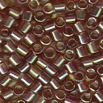 Picture of Miyuki Delica Seed Beads | 8/0 - DBL-0122 (F) Transparent Amber w/Mint Luster AB (5 g.)
