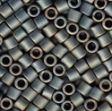 Picture of Miyuki Delica Seed Beads | 8/0 - DBL-0307 (F) Matte Metallic Tarnished Silver AB (5 g.)