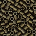 Picture of Miyuki Delica Seed Beads | 8/0 - DBL-0311 (L) Matte Metallic Dk. Olive Green (5 g.)