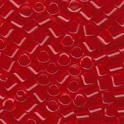 Picture of Miyuki Delica Seed Beads | 8/0 - DBL-0704 (A) Transparent Bright Red (5 g.)