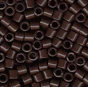 Picture of Miyuki Delica Seed Beads | 8/0 - DBL-0734 (A) Opaque Chocolate Brown (5 g.)