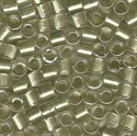 Picture of Miyuki Delica Seed Beads | 8/0 - DBL-0903 (B) Celery Lined Crystal w/Sparkle (5 g.)