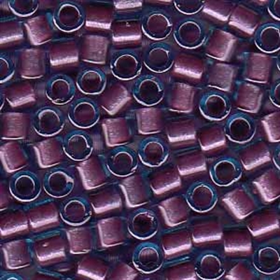 Picture of Miyuki Delica Seed Beads | 8/0 - DBL-0922 (B) Orchid Lined Lt. Blue w/Sparkle (5 g.)