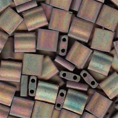 Picture of Miyuki Tila Beads | TL-2035 (K) Matte Metallic Antique Bronze AB (5 g.)