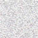 Picture of Miyuki Delica Seed Beads | 15/0 - DBS-0202 (A) Opaque White AB (5 g.)