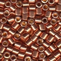 Picture of Miyuki Delica Seed Beads | 8/0 - DBL-1836 (O) DURACOAT Galvanized Lt. Copper Salmon (5 g.)