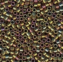Picture of Miyuki Delica Seed Beads | 11/0 - DB-0029 (M) Metallic Gold/Pewter/Bronze AB (5 g.)
