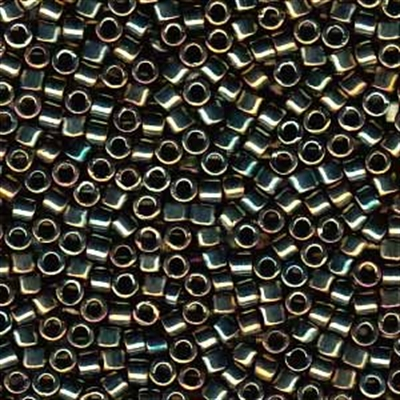 Picture of Miyuki Delica Seed Beads | 11/0 - DB-0024 (L) Metallic Green AB (5 g.)