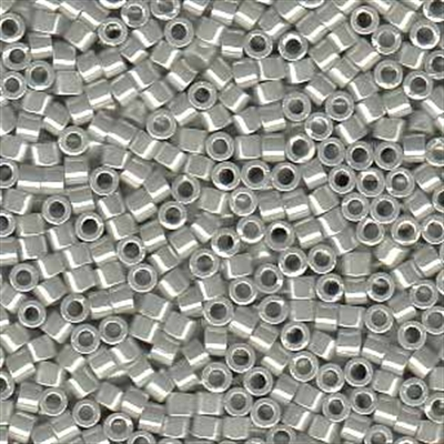 Picture of Miyuki Delica Seed Beads | 11/0 - DB-0252 (L) Opaque Grey w/White Luster (5 g.)