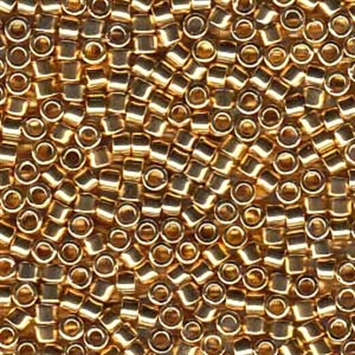 Picture of Miyuki Delica Seed Beads | 11/0 - DB-0034 (PM3) 24KT Lt. Gold Plated (2.5g)