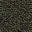 Picture of Miyuki Delica Seed Beads | 11/0 - DB-0311 (P1) Matte Metallic Dk. Olive Green (5 g.)