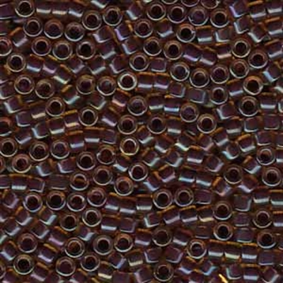 Picture of Miyuki Delica Seed Beads | 11/0 - DB-0061 (A) Wine Lined Lt. Topaz Luster (5 g.)