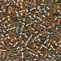 Picture of Miyuki Delica Seed Beads | 11/0 - DB-0981 (A) Sparkle Lined Hues of Topaz/Gold/Pewter (5 g.)