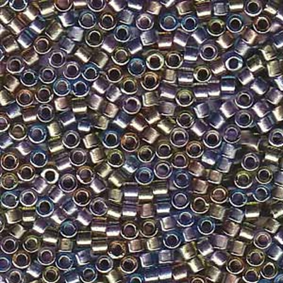 Picture of Miyuki Delica Seed Beads | 11/0 - DB-0986 (A) Sparkle Lined Shades of Lilac, Blue & Topaz (5 g.)