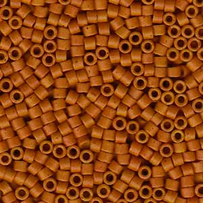 Picture of Miyuki Delica Seed Beads | 11/0 - DB-0653 (B)  Semi-Matte Dyed Opaque Pumpkin Spice (5 g.)