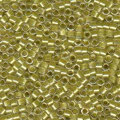 Picture of Miyuki Delica Seed Beads | 11/0 - DB-0910 (A) Yellow Green Lined Crystal w/Sparkle (5 g.)