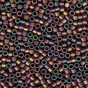 Picture of Miyuki Delica Seed Beads | 11/0 - DB-1055 (T) Matte Copper Green Mauve w/Metallic Gold Luster AB (5 g.)
