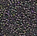 Picture of Miyuki Delica Seed Beads | 11/0 - DB-1053 (P1) Matte Purple Green w/Metallic Gold Luster AB (5 g.)
