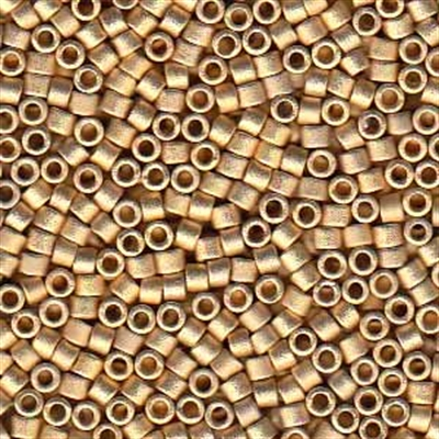 Picture of Miyuki Delica Seed Beads | 11/0 - DB-0334 (PM6) Matte 24KT Lt. Gold Plated (2.5g)