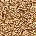 Picture of Miyuki Delica Seed Beads | 11/0 - DB-0331 (PM8) Matte 24KT Bright Gold Plated (2.5g)