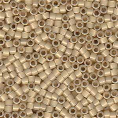Picture of Miyuki Delica Seed Beads | 11/0 - DB-1458 (G1) Silver Lined Antique Parchment Opal (5 g.)