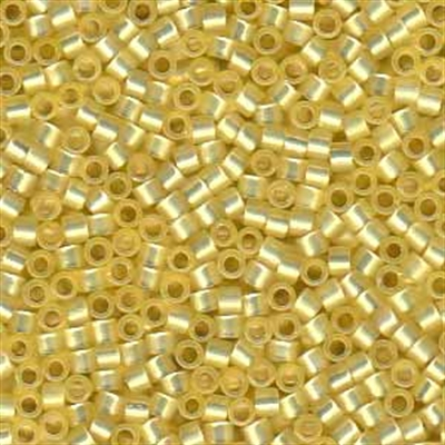 Picture of Miyuki Delica Seed Beads | 11/0 - DB-0623 (G1) Silver-Lined Daffodil Yellow Opal (5 g.)