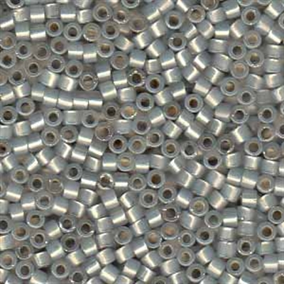 Picture of Miyuki Delica Seed Beads | 11/0 - DB-1455 (G1) Silver Lined Lt. Grey Opal (5 g.)