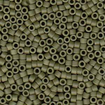 Picture of Miyuki Delica Seed Beads | 11/0 - DB-0391 (G) Matte Opaque Olive (5 g.)