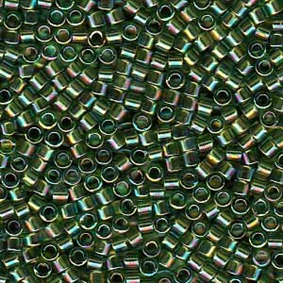 Picture of Miyuki Delica Seed Beads | 11/0 - DB-1247 (A) Transparent Olive Green AB (5 g.)