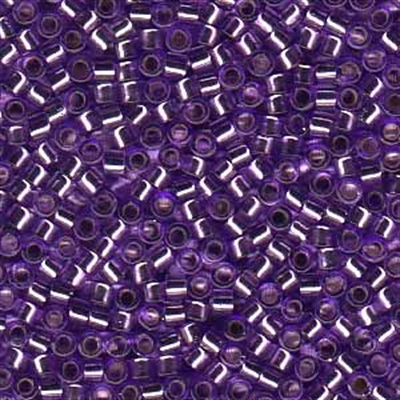 Picture of Miyuki Delica Seed Beads | 11/0 - DB-1347 (G1) Silver Lined Violet Purple (5 g.)